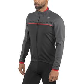 Sportful Giro Chaqueta Hombre, black/anthracite/red